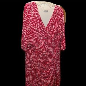 Dress Barn faux wrap dress.